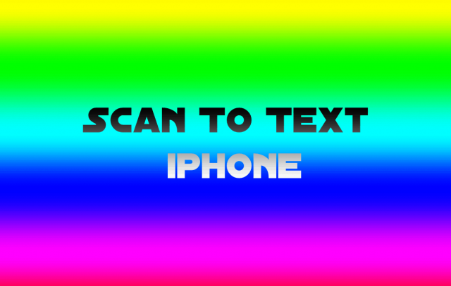 scan to text iphone