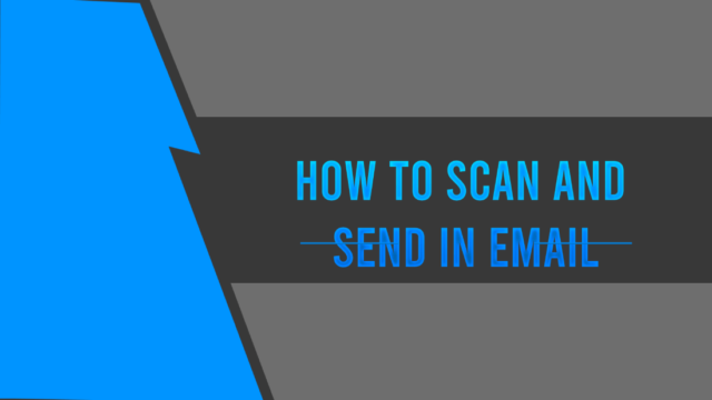 how to scan and send in email