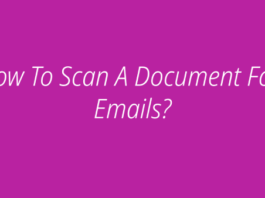 How To Scan A Document For Emails