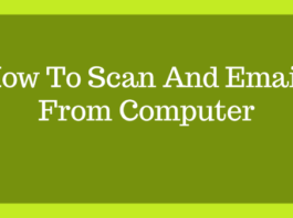 How To Scan And Email From Computer